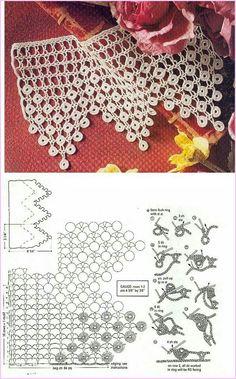 Who Want Free Crochet Tejer Patterns Cro - Diy Crafts - maallure Crochet Boarders, Crochet Lace Edging, Crochet Motifs, Crochet Stitches Patterns, Crochet Diagram, Crochet Chart, Thread Crochet, Crochet Designs, Crochet Doilies