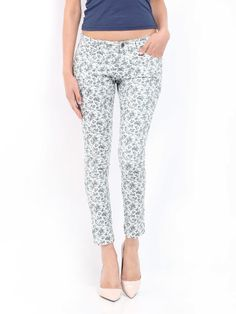 Buy DressBerry Women Off White & Grey Floral Print Trousers - - Apparel for Women Printed Trousers, Off White, Floral Prints, Pajama Pants, Pajamas, Sweatpants, Grey, Stuff To Buy, Women