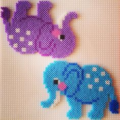 Elephants hama perler by ceciliebogner
