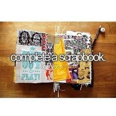 Complete a scrapbook bucket list