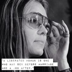 A Gloria Steinem quote for Women's Equality Day. http://socialmediabar.com/superwomen-luncheon