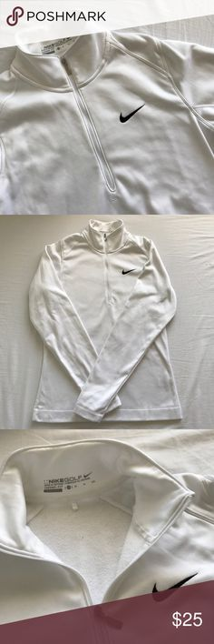 Nike Sweater Women's Nike golf sweater. In very good condition, like new. Only used twice. Let me know if you have any questions or would like to see more photos! 😊  Bust/chest area: 18 inches  Waist area: 16.5 inches  Shoulder to armpit length: 9 inches Total length of the sweater: 26 inches Nike Other