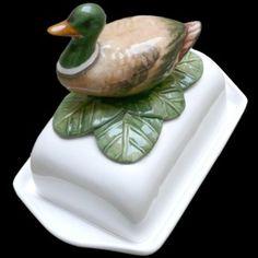 Duck, butter dish