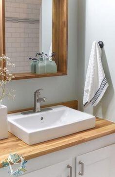 #bathroom #Block #Butcher #Counters #Countertop #DIY #Ideas