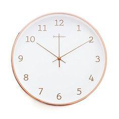 "14"" Bernhard Metal Elegant Wall Clock Rose Gold w/Roman Numerals Home Decor New #BernhardProducts #Modern"