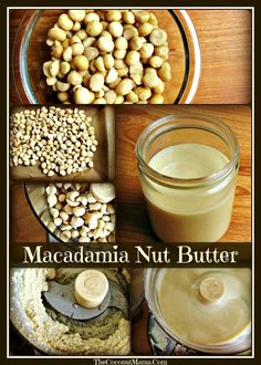 """Macadamia nuts are very low in omega 6 fats as well as phytic acid. When I do eat nuts, I eat Macadamia nuts and Hazelnuts. It really tastes wonderful on sandwiches and as a dip with fruit. Macadamia Nut Butter, Macadamia Nut Recipes, Peanut Butter, Salsa Dulce, Savarin, Most Nutritious Foods, Butter Recipe, Raw Food Recipes, Blender Recipes"