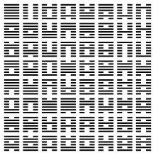 Entscheidungsfindung via i-ching: am Beispiel von John Cage. (siehe auch: G.W. Leibniz, C. Jung, M. Cunningham, T.McKenna, Anthony Judge etc.)