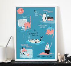 Design&Cats, 2016 Illustration pour L'Affiche Moderne. Elle est disponible dans cette jolie galerie en ligne en format poster :) Photo © L'Affiche Moderne