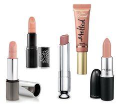 Nudes para Peles claras: Shell Rose, cremoso, da Kiko (cerca de R$ 20,79, sem taxas), Rosibela, mate, Quem disse, Berenice? (R$ 27,90), Incognito, cremoso translúcido, Dior (R$ 125), Melted Nude, mate, Too Faced (cerca de R$ 54,72, sem taxas), Fleshpot, cremoso, MAC (R$ 66) (Foto: Reprodução)