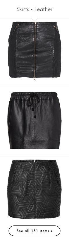"""Skirts - Leather"" by giovanna1995 ❤ liked on Polyvore featuring skirts, mini skirts, short miniskirt, leather mini skirt, sexy short skirts, sexy miniskirts, leather miniskirt, bottoms, black and saias"
