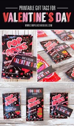 FREE Valentine's Day Gift Tags. Attach to a package of of Pop Rocks for cute, fun + budget-friendly classroom treats or party favours this Valentine's Day!