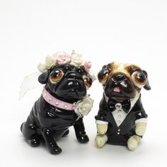 Pug Dog Lover Wedding Cake Topper by... | Boodapug