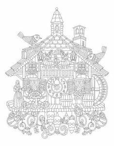 Advanced Coloring Cuckoo Clock Page