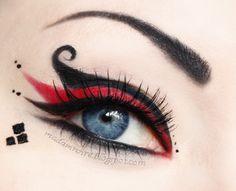 BEAUTIFUL Harley Quinn makeup