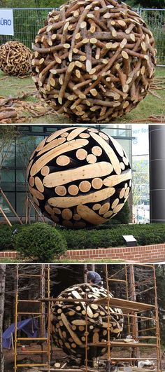 Simple Art and your Garden can look amazing. Garden globes will help your garden keep the good look all year long. You will Love this Calm and Cool DIY Garden Globes. Make Your Garden More Attractive! Read More. Garden Spheres, Garden Balls, Diy Art Projects, Garden Projects, Garden Ideas, Cool Diy, Garden Globes, Flower Landscape, Concrete Garden