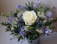 Lovely bride bouquet; lavender wedding