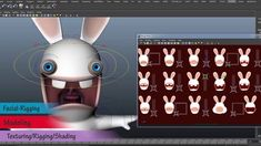 Raving Rabbids : Marketing Model This is a best of the Raving Rabbid (Marketing Illustration Model) , made at Ubisoft Montpellier in It's a overview of the additional Character modeling, Rigging / Facial-Rigging,. Marketing Models, Character Modeling, Montpellier, 3d Animation, Motion Design, Rigs, Maya, Concept Art, Facial