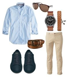 Casual by fdaraiza on Polyvore featuring American Eagle Outfitters, Chor, Yves Saint Laurent, Arizona, Salvatore Ferragamo, Uniqlo, men's fashion and menswear