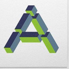 14/365 A imposible #isometrics #365typerounds #365rounds #typogra...