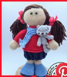 Patrón gratis amigurumi de muñeca