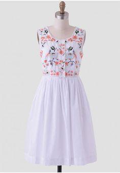 A Day In Mykonos Embroidered Dress | Modern Vintage Dresses | Modern Vintage Clothing
