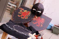 DIY realistisches Ritterkostüm - auch für Kinder / DIY Ritterhelm (Gladiatorenhelm, Römerhelm) / DIY Schild DIY Kettenhemd, Ritterhemd / DIY Schwert