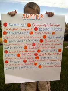 "Summer Fun ""to Do' lists - cute one!"