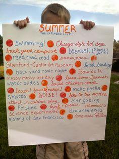 lista de actividades para el verano