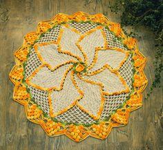 Hoje tem Flor !!!: Tapete em crochê com receita completa da artesã Cr...