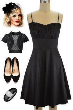 Brand new in store at Le Bomb Shop! Find them here: http://www.ebay.com/itm/50sStyle-BLACK-ROUCHED-Bust-Bombshell-PINUP-Holiday-PARTY-Dress-w-Attached-Tulle-/121174752170?pt=US_CSA_WC_Dresses&var=&hash=item61d42c047b