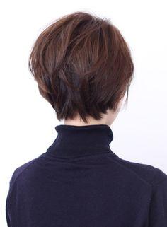 ☆大人キレイな前下がりショート(髪型ショートヘア)