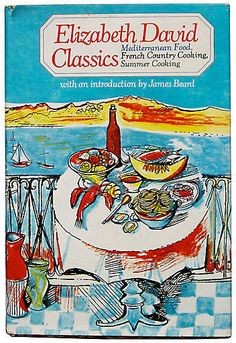 One Kings Lane Vintage Three Elizabeth David Classics. Elizabeth David Classics by Elizabeth David. New York: Knopf, 1980. First printing. Originally published in three ground-breaking volumes, A Book of Mediterranean Food (1950), French Country Cooking (1951), and Summer Cooking (1955), this is a compilation of the three, with classic illustrations by John Minton. Book and jacket are in excellent condition. Hardcover. 250 pp. Introduction by James Beard.. Hardcover In Jacket