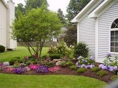 Easy Landscaping Ideas for Front Yard | Front yard landscaping by debora