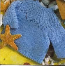 Eu que Fiz - Vovó Baisa: Azul no tricô para o bebê - blusinha