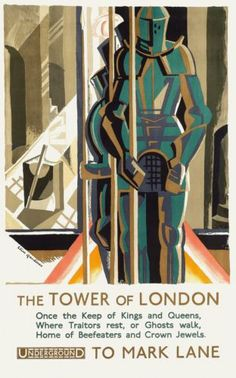 Tower OF London BY London Underground 1929 Vintage Travel Poster Repro | eBay