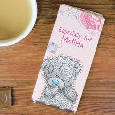 Personalised Me To You Tatty Teddy Girls Chocolate Bar, Personalise this Me To You Chocolate Bar with any message Available From Creative Gifts uk