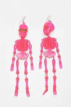 Vintage deadstock jangly skeleton earring #urbanoutfitters #urbanrenewal #halloween #vintage #skeleton #earring