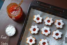 Μπισκοτάκια με μαρμελάδα - Food States Dessert Recipes, Desserts, Muffin, Pudding, Cookies, Breakfast, Birthday, Blog, Tailgate Desserts
