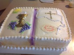 Primera comunion First Communion Favors, Première Communion, First Holy Communion, Open Book Cakes, Comunion Cakes, Bible Cake, Snowman Cake, Holiday Cakes, Cookie Decorating