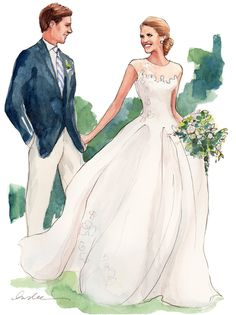 Image from http://skirtpr.com/blog/wp-content/uploads/INSLEE-HAYNES_WATERCOLOR_BRIDE-AND-GROOM.jpg.