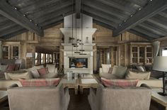 The stunning interior at Chalet Edelweiss — Courchevel 1850, France, Luxury Ski Chalets, Ski Boutique