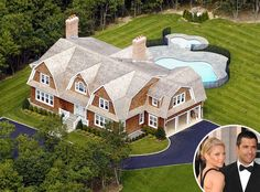 Kelly Ripa & Mark Consuelos from Celebrity Homes in the Hamptons  Lovely home.