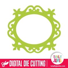Use this ornate oval frame to decorate scrapbook layouts or cards. Digital die cutting files are designed specifically with cutting machines in mind. Use them with programs such as your Silhouette, Cricut (SCAL/MTC), Pazzles, Klick-n-Kut, Wishblade or any cutting machine that can use the following file formats: SVG, PDF, and DXF.