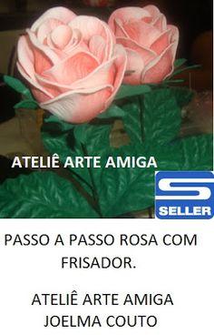 AMIGA DA EDUCAÇÃO.: PASSO A PASSO ROSA COM FRISADOR!!!