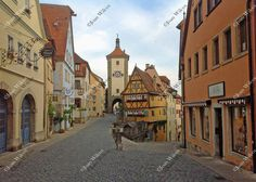 City Gate and Clock in Scenic Rothenburg Ob der Tauber by JWPhoto