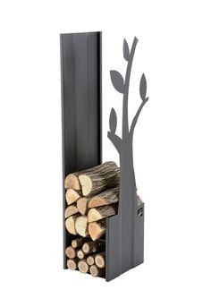 Portalegna moderno per Camino, in acciaio verniciato By Caf Design [www.viadurini.it]