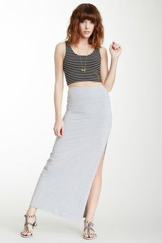 American Apparel Slit Maxi Skirt by Non Specific on @HauteLook