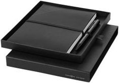 Black limited edition notitieboek, pen en notebook in geschenkverpakking
