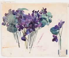 May #Flowers at the Rakow Library: Design Drawings by the Tiffany Girls | Corning Museum of #Glass