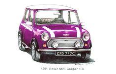 Violet 1991 Rover Mini Cooper $3